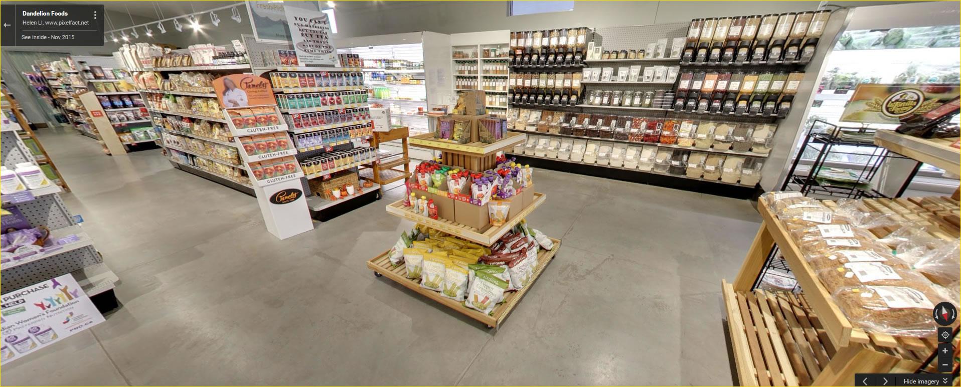 Click for a Google virtual tour of Dandelion Foods
