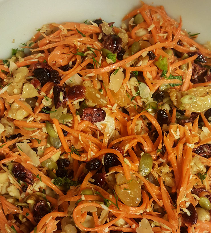 Carrot salad - enjoy local, even in the winter!